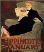 Vintage Lippincott's Magazine Cover